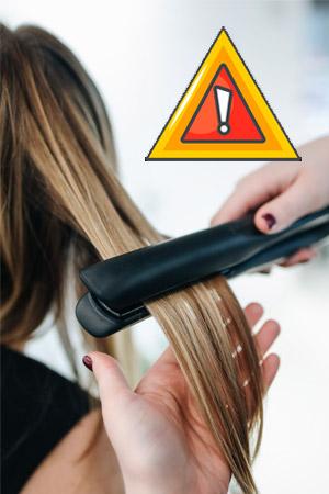 peligro plancha pelo